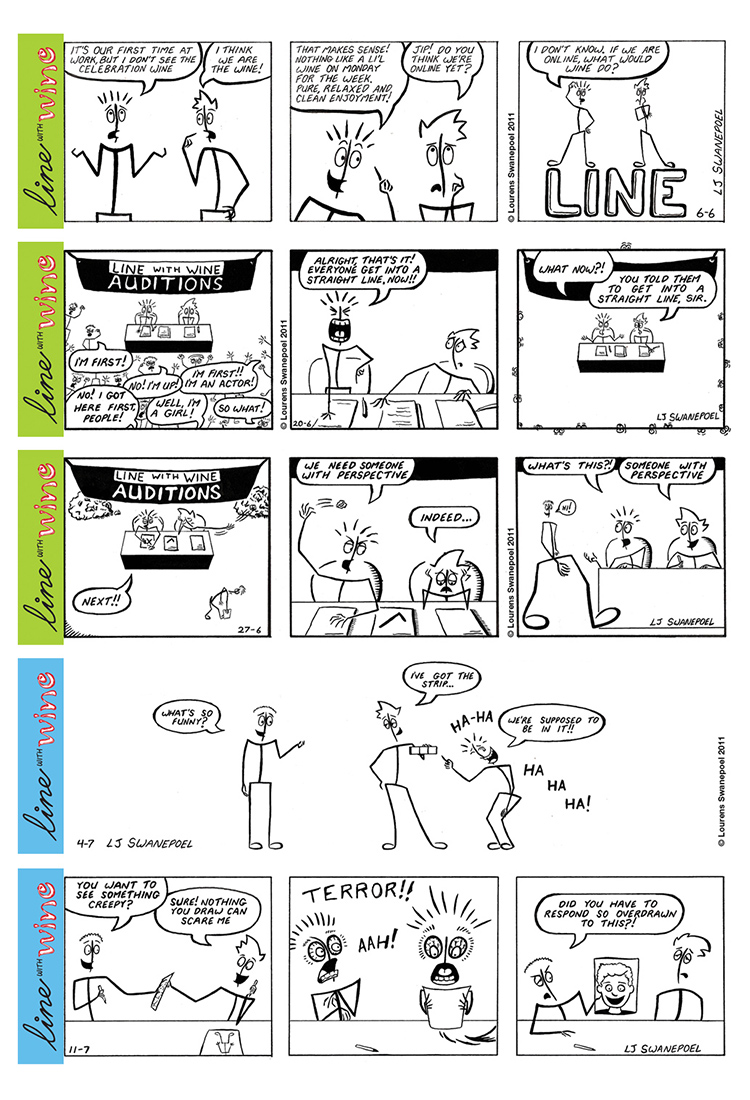 Line With Wine Comic