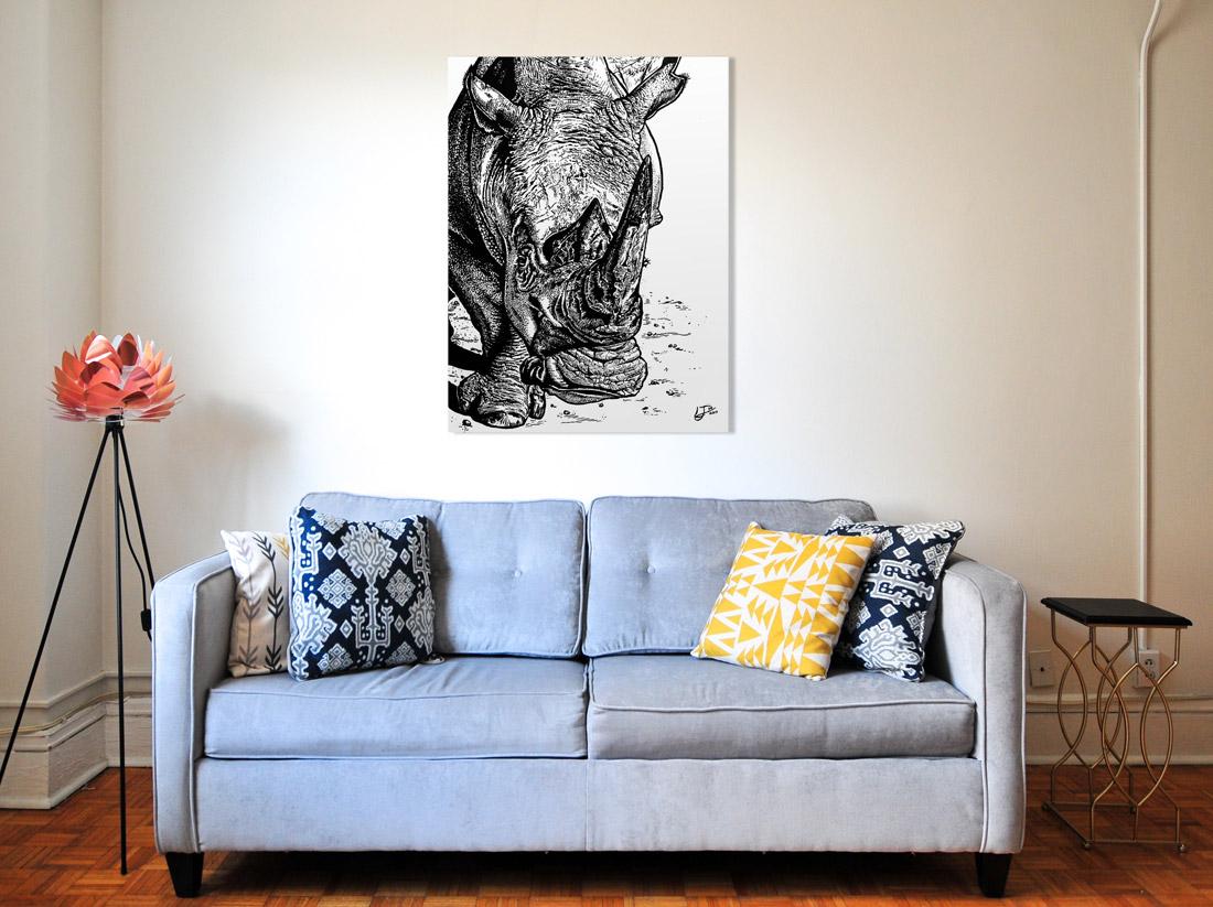 Rhino Jess Wall Display